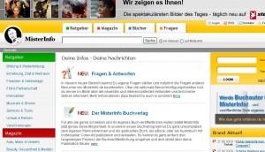Screenshot von www.misterinfo.de