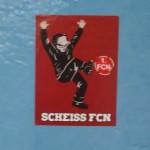 Sch*** FCN im Münchner U-Bahn Sperrengeschoss