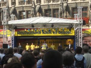 Guido Westerwelle auf dem Marienplatz in München