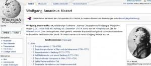 """Den guten Amadeus kann man auf Wikipedia nicht mehr bearbeiten, wie man am fehlenden """"Seite bearbeiten"""" - Link sieht"""