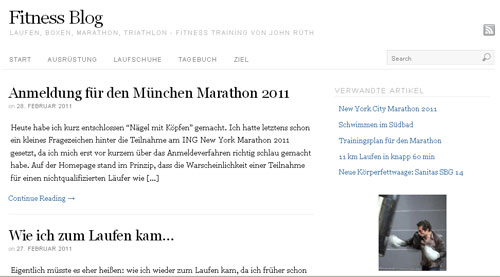 mein Fitness Blog über Marathon Training etc.
