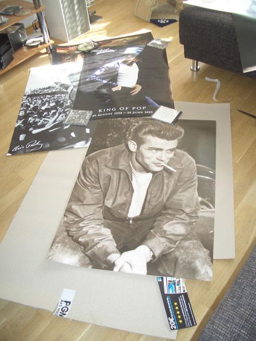 James Deans Poster im Wohnzimmer