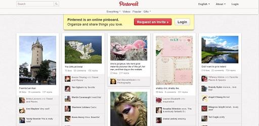 Bilder machen Inhalte interessanter und werden über pinterest.com weiterverbreitet