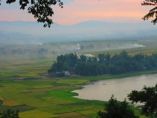 Sunset in Daklak, Central Highlands Vietnam