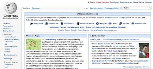 Die Wikepedia gehört zu den meistgelesenen Webseiten im Internet