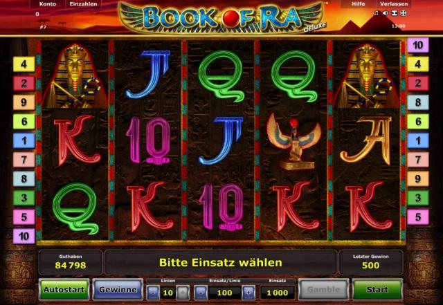 Ziel des Spiels Book Of Ra sind zwei bis fünf Symbole nebeneinander auf einer Gewinnlinie
