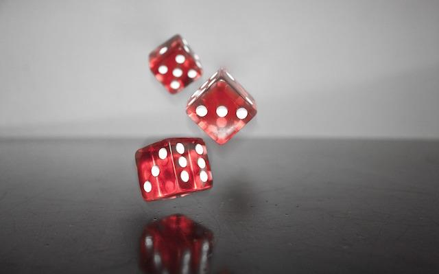 Würfel für das Glücksspiel